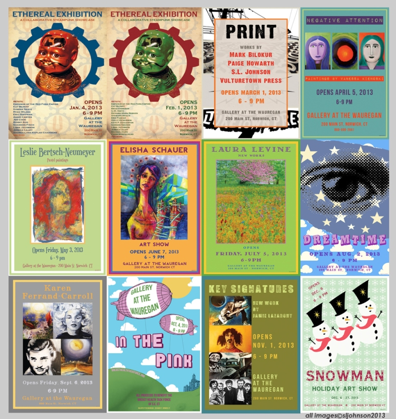 12 months of posters 2013