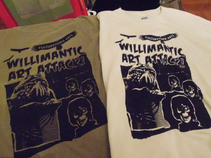 Art Attack! tshirt printed by Vulturetown Press 2015