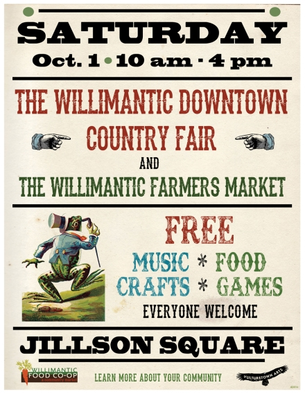 Poster/Flyer art for Willimantic Downtown Country Fair
